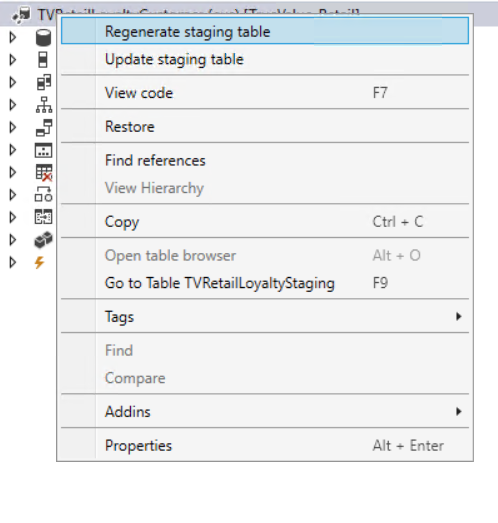 Regenerate / Update staging tables in #Dyn365FO Data Entity