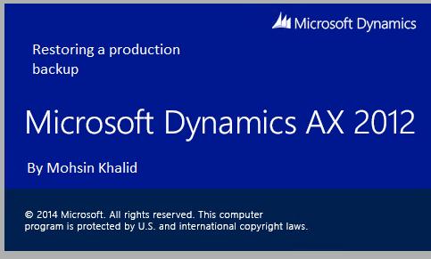 Mohsin Khalid – Page 2 – Microsoft Dynamics AX Professional